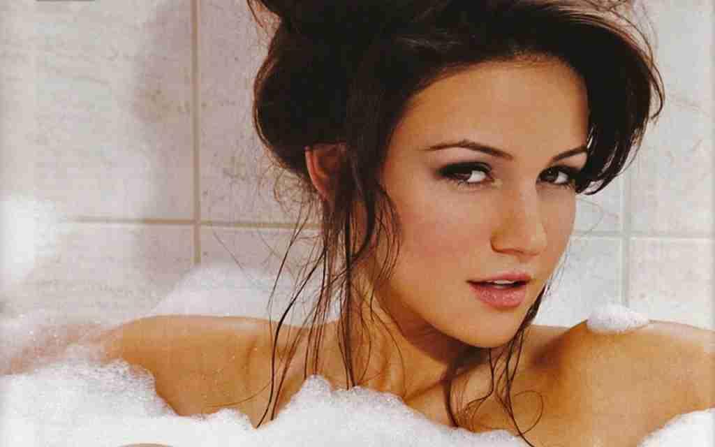 Michelle Keegan in Bathroom